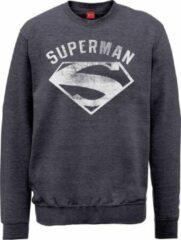 Grijze Merkloos / Sans marque Vintage trui superman maat XL