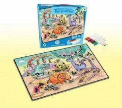 FDBW Puzzel Kleurplaat – 24 stukjes – 65x90 cm | Puzzel Kleuren – Dinosaurussen |Kinderpuzzel - Dinosaurus | Legpuzzel 24 stukjes| Kleurpuzzels voor Kinderen – 24 stukjes – 65x90 cm
