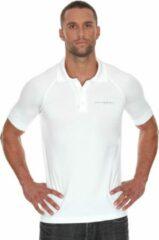 Brubeck Prestige Seamless Sport Poloshirt Golf / Tennis-Wit-XL