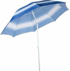 Tom Strandparasol 190 Cm Polybuteen/aluminium Wit/blauw