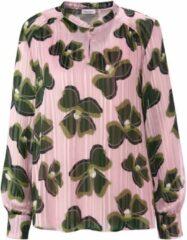 Roze Gerry Weber Semi-transparante tuniek met lurex en bloemenprint