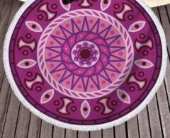 Merkloos / Sans marque Picknickkleed - Rond - 160 CM - Mandala - Paars