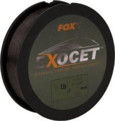 Kaki Fox Exocet Mono - Trans Khaki - Nylon Vislijn - 10lb - 0.261mm - Khaki