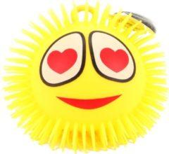 Toitoys Toi-toys Pufferbal Emoji Hartjesogen Geel 15 Cm