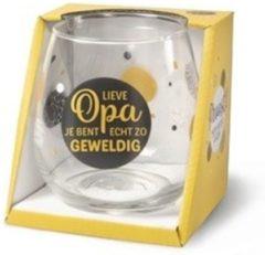 Gouden Miko Wijn- waterglas - Lieve opa