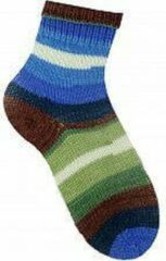 Ice yarns Sokken breien voor dames, heren en kinderen breiwol pakket 4 bollen van 100 gram – self stripping breigaren 75% superwash wol en 25% polyamide – wollen sokken breien met breinaalden maat 2.75 – 3 mm – garen kleuren sokkenwol groen, bruin, blauw