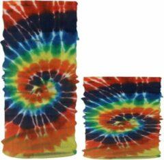 Fako Fashion® - Microfiber Faceshield - Bandana - Nekwarmer - Sjaal - Tie Dye