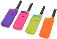 Discountershop Electrische keuken aansteker -Mini aansteker 4 stuks - Paars - Roze - Groen - Oranje