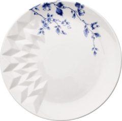 Blauw Vouw Ontbijtbord | set van 2 | Heinen Delfts Blauw | Design | Servies | Delfts Blauw |Romy Kühne | Origami | Ontbijtbord |