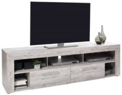 Zandkleurige FD Furniture TV Meubel Raymond 180 cm breed - Zand eiken