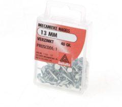 Zilveren Deltafix Vertinde nagel doos 13mm 40 gram (10 stuks)
