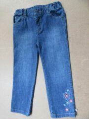 Blauwe Noukie's jeans broek voor meisjes met bloem , 4 jaar 104