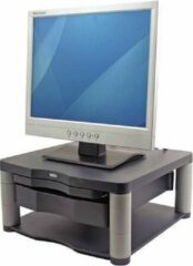 Grijze Fellowes Premium monitor standaard Plus verstelbaar, zwart