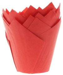 Rode House of Marie Muffin Vormpjes Tulp Rood pk/36