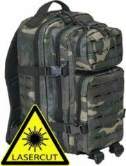 Brandit Backpack - Rugzak - LASERCUT Mollie system - medium darkcamo