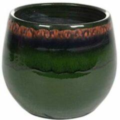 Donkergroene Ter Steege Pot Charlotte groen bloempot binnen 15 cm