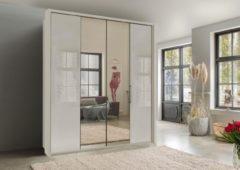 Wiemann Kleiderschrank, mit Spiegel und Glas