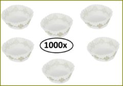 Witte Thema party 1000x Caisses 120mmx58mm bedrukt goud ster