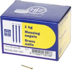 Hjz Messing nagels bombe kop 1.6 x 25mm 1kg