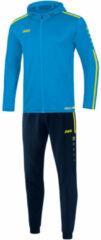 Lichtblauwe Jako Trainingspak polyester met kap striker 2.0 m9419-89