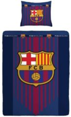 Fc Barcelona Dekbedovertrek - 100% Katoen - 1-persoons (140x200 Cm + 1 Sloop) - 1 Stuk (60x70 Cm) - Multi
