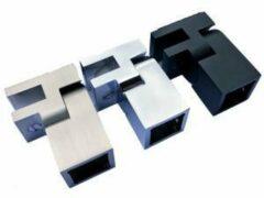 Glasdiscount Glasbevestiging vierkant voor stabilisatiestang Chroom