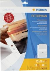 HERMA Fotophan transparent photo pockets 13x18 cm landscape white 10 pcs. (7587)