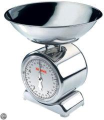 Zilveren Soehnle keukenweegschaal met weegplateau van edelstaal, Silvia