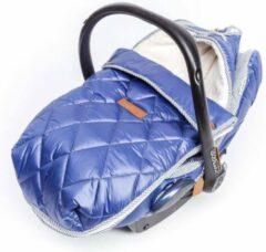 Blauwe Baby Anne-Cy voetenzak met autostoelhoes nylon navy