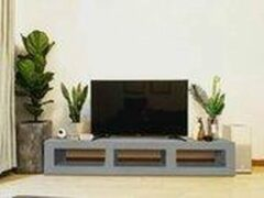 Grijze Betonlook TV-Meubel open vakken | Platinum Grey | 140x40x40 cm (LxBxH) | Betonlook Fabriek | Beton ciré