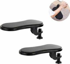 Fop en Bij 2x Ergonomische armsteun voor stoel en tafel - Met muispad - Computer en laptop - Armleuning - Bureau - Polssteun toetsenbord - Elleboog - Bureaustoel - Ondersteuning