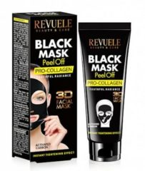 Zwarte Revuele Black Mask Peel Off - Pro Collagen 80ml.