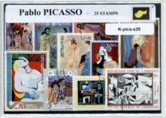 Transparante KLOMP G.T.P Pablo Picasso - postzegelpakket cadeau met 25 verschillende postzegels