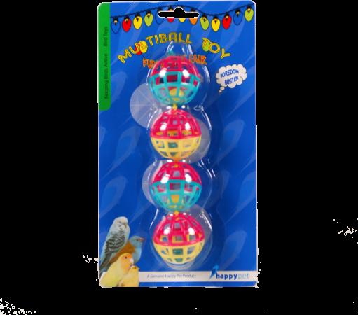 Afbeelding van Happy Pet Vogelspeelgoed Met Ballen En Bellen - Vogelspeelgoed - 20x4 cm Multi-Color