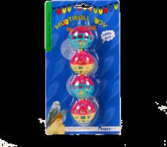 Happy Pet Vogelspeelgoed Met Ballen En Bellen - Vogelspeelgoed - 20x4 cm Multi-Color