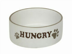 Creme witte Nobby eetbak hungry creme 15 x 6 cm - 1 ST