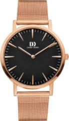Roze Danish Design watches unisexhorloge London Black Rosegold Large Mesh IQ68Q1235
