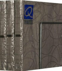 Merkloos / Sans marque Servetten - Papier - Set van zes pakjes - 6 x 20 stuks - Cirkels Donkergrijs - 33cm x 33cm