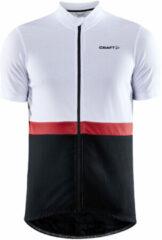 Craft Craft Core Fietsshirt - Maat XL - Mannen - wit/zwart/rood