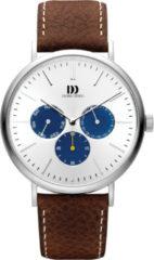 Zilveren Danish Design watches edelstalen herenhorloge Hong Kong Day/Date Silver Blue IQ12Q1233