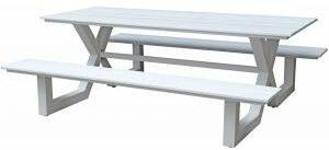 Afbeelding van Witte Picknicktafel Jonas - - Kunststof en aluminium - SenS-Line
