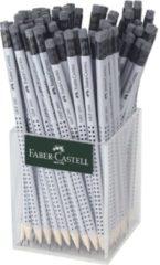 Grijze Potlood Faber-Castell GRIP 2001 HB met gum koker a 72 stuks FC-117223
