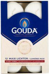 Gouda Maxi waxinelicht 10 uur wit 12 Stuks