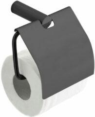 Mueller Ferro toiletrolhouder met klep verouderd ijzer