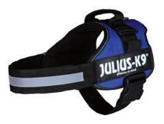 Blauwe Julius k9 power-harnas voor hond / tuig voor voor labels blauw maat 1/66-85 cm