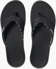 Zwarte Reef Ortho-Bounce Coast Dames Slippers - Black - Maat 37,5