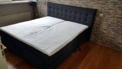 Antraciet-grijze SleepNext - KOBU MICRO EDITION HQ Kobu Sleepnext - Boxspring - 140x200cm - Elektrisch - 100% Pocketveren - 7 zone
