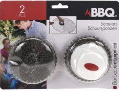 Witte Merkloos / Sans marque Schuurspons Voor BBQ of Keuken - Set Van 2 - Intense reiniging