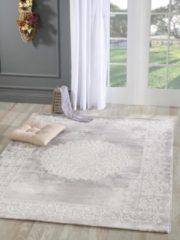 Impression Harmony - Medaillon - 160x220 cm - Grijs - Laagpolig Vloerkleed