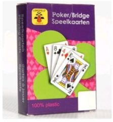 1x Speelkaarten plastic poker/bridge/kaartspel in bewaar box - Kaartspellen - Speelkaarten - Pesten/pokeren